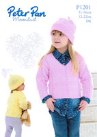 DK Pattern for Crocheted Cardigans and Hats | Peter Pan DK 1137