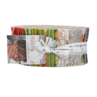 Blushing Peonies | Robin Pickens | Moda Fabrics | Jelly Roll Fabric Pack - Main image