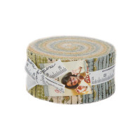 Jelly Roll Fabric Pack, Garden Notes | Kathy Schmitz | Moda Fabrics - Main Image