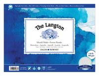 Daler Rowney Langton Grain Fin Rough Block 300 gsm Non FSC (Not Cold Pressed), 12' x 9' Paper Pad