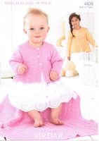 Baby / Childrens Cardigan and Blanket 4 Ply Pattern | Sirdar Snuggly 4 Ply 4438