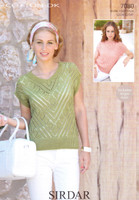 Knitted Lace Panel Tops and Skirt DK Pattern | Sirdar Cotton DK 7082