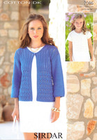 Ladies / Childs Lattice Patterned Cardigans DK Pattern | Sirdar Cotton DK 7086