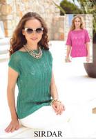 Zigzag Lace Summer Tops DK Pattern | Sirdar Cotton DK 7079