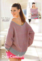 Big Pullover Ruby Knitting Pattern | Adriafil Duo Comfort