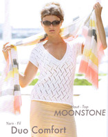 "Lacy Summer Top ""Moonstone"" Knitting Pattern 