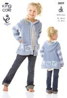 Baby / Childrens Dress, Hoodie, Cushion & Blanket DK Pattern | King Cole DK 3859