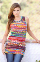 Chargall Tunic and Dress Crochet Pattern | Adriafil Knitcol