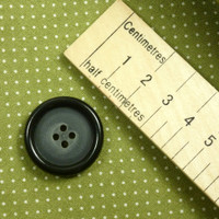 Dark Raised Edge Round Button with 4 Holes - 28 mm