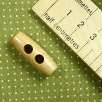 Wooden Toggle Button 2 Holes - 30 mm