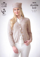 Ladies Hat, Sweater and Cardigan DK | King Cole Galaxy DK 3870