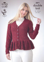 DK Pattern for Ladies Top and Cardigan - King Cole Galaxy DK 3871 - Image 1