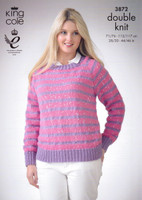 DK Pattern for Ladies Crew Neck Sweaters - King Cole Galaxy DK 3872 - Image 1