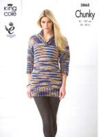 Ladies Tunic and Sweater Chunky Pattern | King Cole Chunky 3865