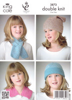 Childs Jacket, Hats, Neck Scarf and Collar DK Pattern | King Cole Galaxy DK 3873