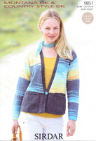 Low Cut V Neck Cardigan DK Pattern | Sirdar Montana DK & Country Style DK 9851
