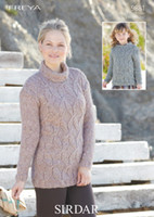 Girls / Ladies Sweaters Chunky Patterns | Sirdar Freya 9881