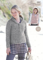 Girls / Ladies Jackets Chunky Patterns | Sirdar Freya Chunky 9887