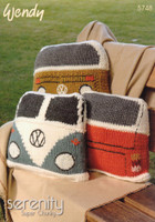 Volkswagen Camper Van Cushions Pattern | Wendy Serenity Super Chunky 5748