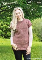 Patterned Tunic Aran Knitting Pattern | Twilleys Alfresco Aran 9209