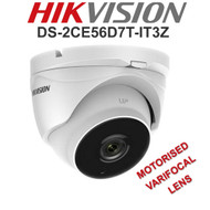 HIKVISION DS-2CE56D7T-IT3Z Dome Camera Varifocal Motorised EXIR  WDR In/Out door (White)