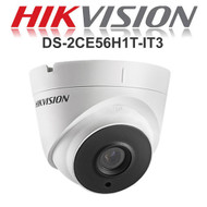 HIKVISION DS-2CE56H1T-IT3 Dome Camera 1080p HD 5MP Fixed lens IR Range 40M Night Vision EXIR  HD TVI In/Outdoor (White)