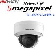 HIKVISION DS-2CD2155FWD-I HD Dome Camera 5MP Fixed Lens IR Range 30M IP Outdoor (White)