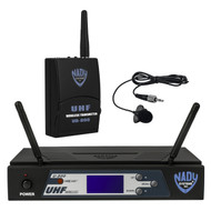 Nady U-800 PLL Lapel Synthesized 800-Channel UHF Wireless System (manufacturer refurbished)