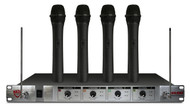 401X Quad HT 4-Channel Wireless Microphone System (Refurbished) For Linded Unified School District