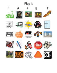 Safety Bingo Cards and Bingo Chips