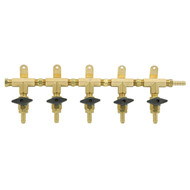 5 Product Beer Gas Manifold - Modular Brass - DTM1405