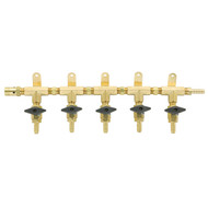 5 Product Beer Gas Manifold with Safety - Modular Brass - DTM1405S