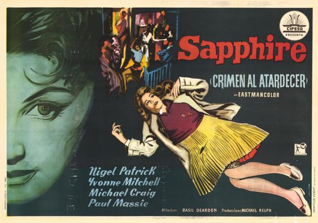 "Who Killed Sapphire? Rare and forgotten Murder Mystery of a ""mixed"" black woman ""passing"" for white in 1950s UK. Available on DVD starring Nigel Patrick"
