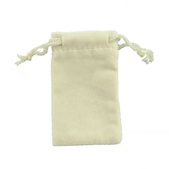 "Off-White 2"" x 3"" NumaSuede Drawstring Pouch"