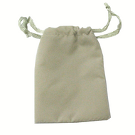 "2"" x 3"" Grey Drawstring Pouch"