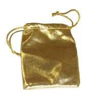 "3"" x 4"" Gold Drawstring Pouch"