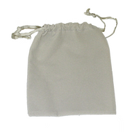 "4"" x 5"" Grey Drawstring Pouch"
