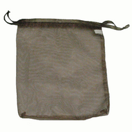 "7"" x 8"" Brown Organza Drawstring Pouch"