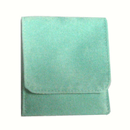 "2"" x 2"" Soft green Fold-Over Pouch"