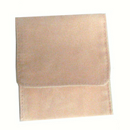 "6"" x 6"" Soft Pink Fold-Over Pouch"