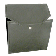Black Leatherette Pearl Jewelry Folder
