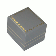 Grey leatherette earring box