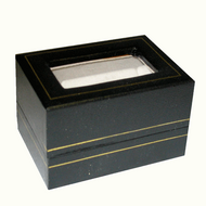Black earring / pendant box with acetate window