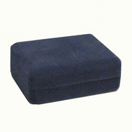 Blue Ecosuede Metal Box