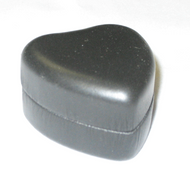 Black leatherette heart ring box