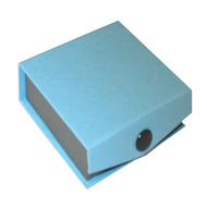 Snap blue earring box