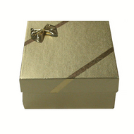 Ribbons and Bows Earring Box Gold Mid