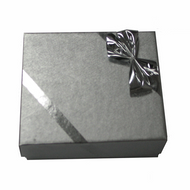 Ribbons and Bows Silver Pendant Box