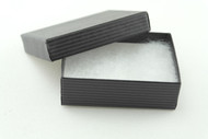 Black Pinstripe Paper ring earring box