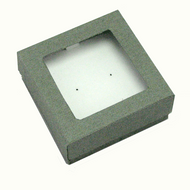 Classic Grey Paper  Window Earring Box